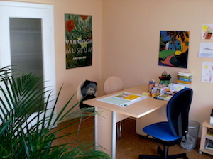 Sprechzimmer der Logopädischen Praxis Johanna Burgmayer